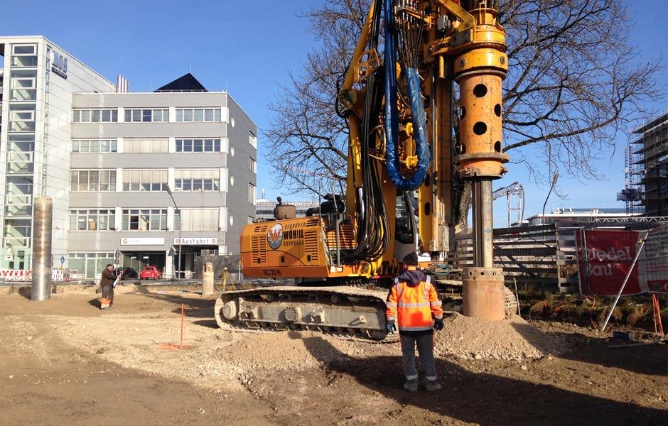 Neubau Grundschule Werksviertel, München Bauphase